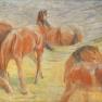 Franz Marc: Weidende Pferde I