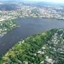 Aussenalster in Hamburg aus der Luft