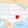 Arkansas Karte
