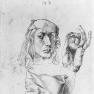 Albrecht Dürer: Selbstbildnis mit Kissen