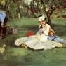 Edouard Manet: Familie Monet in ihrem Garten (Argenteuil)