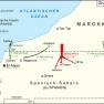 Der Grüne Marsch im November 1975. Marokko kämpft um den Anschluss von Spanisch-Sahara (dem späteren Westsahara).