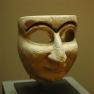 Male mask. Limestone, Mesopotamia, Archaic Dynasties III (2500 BC�2400 BC).