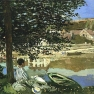 Claude Monet: Am Seine-Ufer, bei Bennecourt (1868)