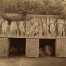 Tebessa Sarkophag des Tempel von Minerva