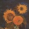 Vincent van Gogh: Fünf Sonnenblumen (August 1888) Während des Zweiten Weltkrieges in Japan durch Feuer zerstört