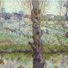 Vincent van Gogh: Blühender Obstgarten mit Blick auf Arles, 1889, Neue Pinakothek, München
