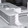 Model der Bauhaus-Gebäude in Dessau (1925/26).