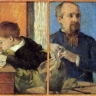 Bildhauer Aubé und sein Sohn